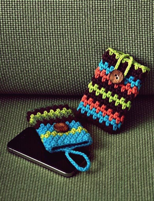 30 stilvolle DIY häkeln Telefonkästen