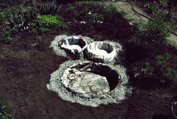 DIY Gartenteiche aus alten Reifen