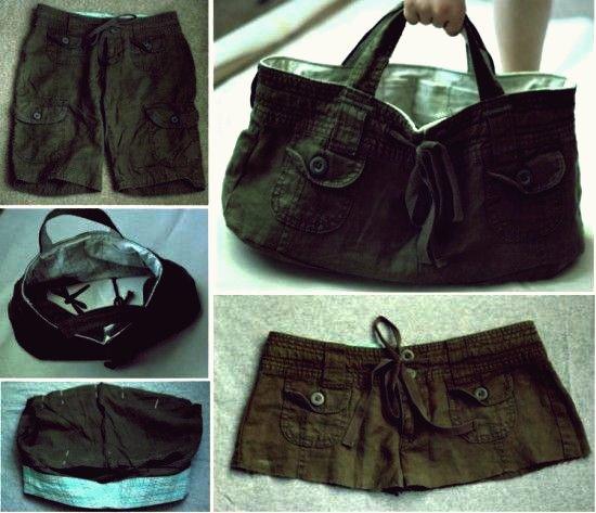 DIY Refashion Old Shorts in eine stilvolle Einkaufstasche