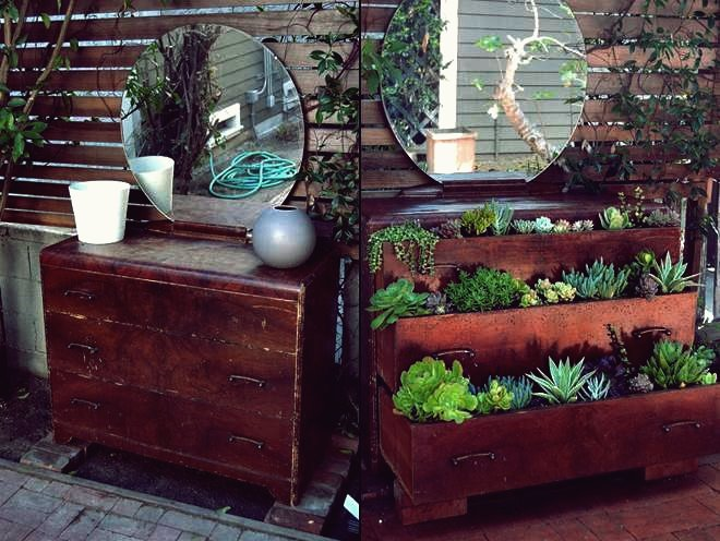 DIY Repurpose eine alte Kommode in Succulent Planter