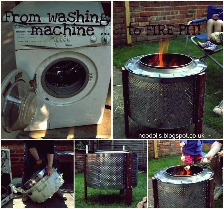 DIY Repurpose Waschmaschine Trommel in die Feuerstelle