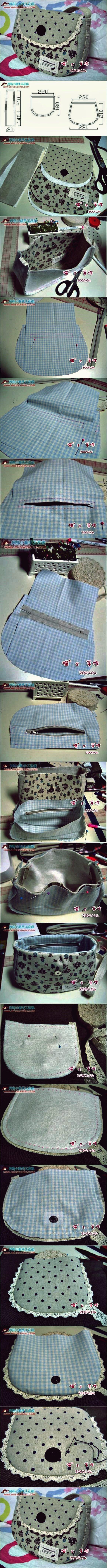 DIY Wie man eine einfache Sommerhandtasche näht