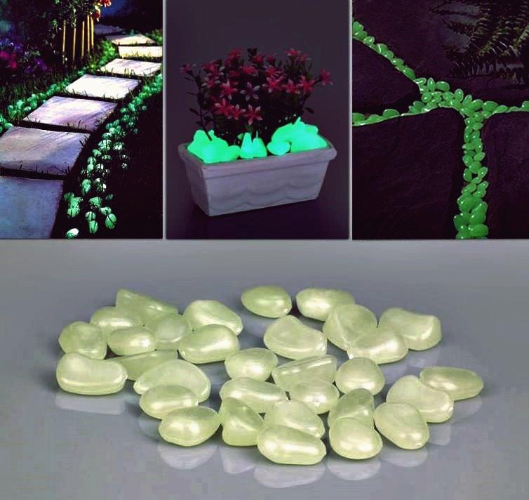 Kreative Ideen - Leuchtende Kieselsteine für den Gehweg