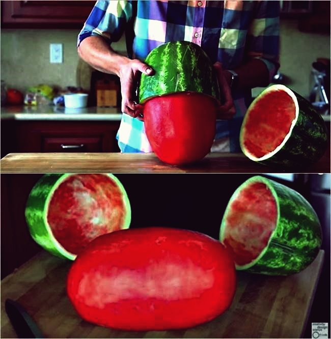 Kreative Ideen - Wie man eine Wassermelone häutet