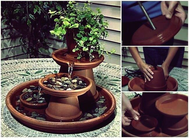 Kreative Ideen - wie man einen Terrakotta-Brunnen baut