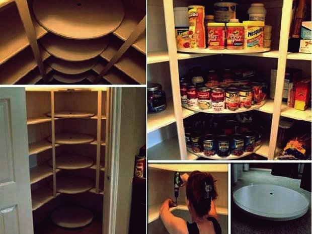 Wie DIY Lazy Susan Style Pantry
