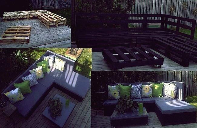 Wie DIY Patio Sofa aus Holzpaletten