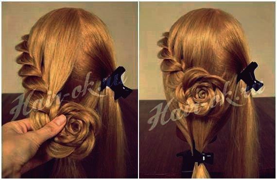 Wie DIY Pretty Rose Braids Frisur