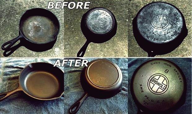 Wie DIY Recondition Rusty Cast Iron Kochgeschirr