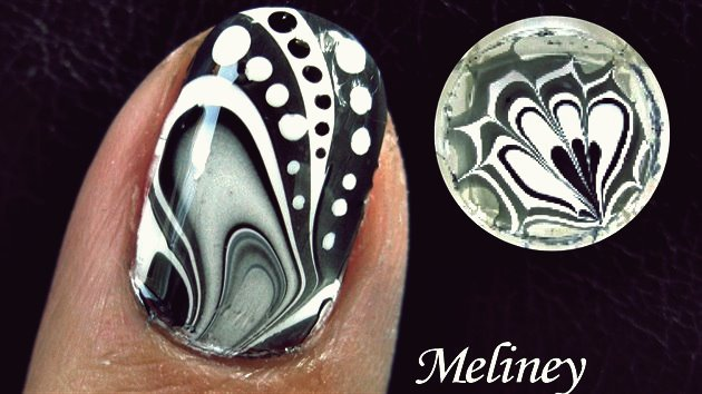 Wie erstelle ich Amazing Water Marble Nail Art DIY Tutorial