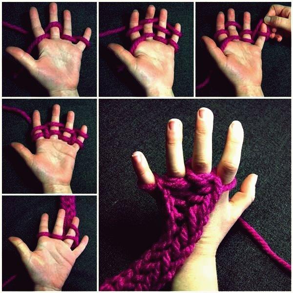 Wie man Finger strickt
