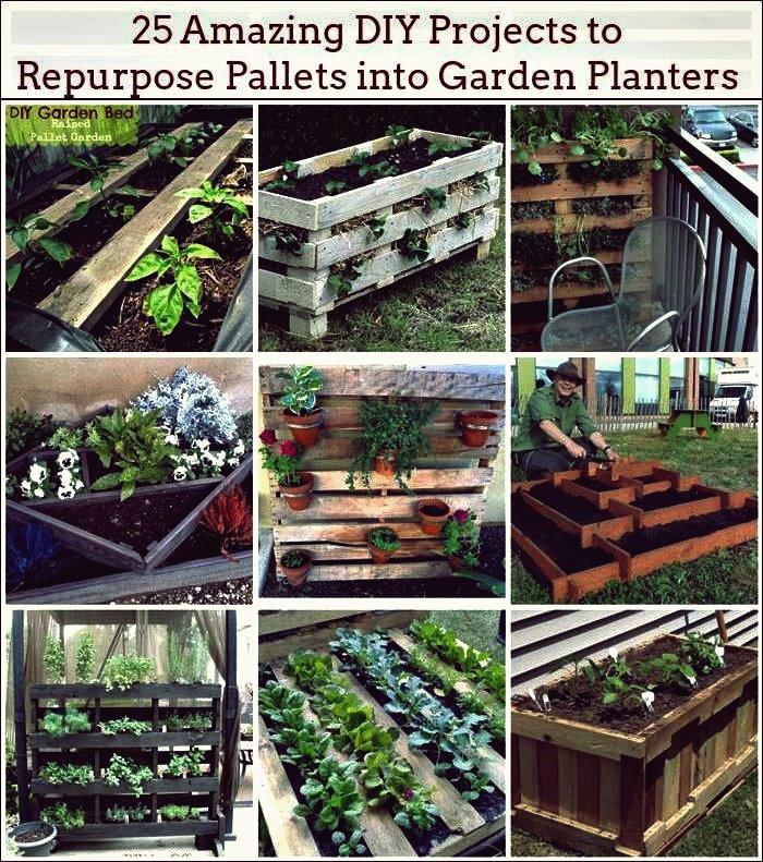 25 erstaunliche DIY-Projekte, um Paletten in Gartenpflanzgefäße umzuwandeln