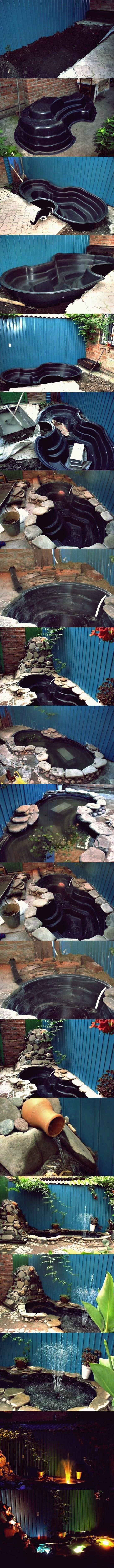 DIY einfacher Teich im Hinterhof