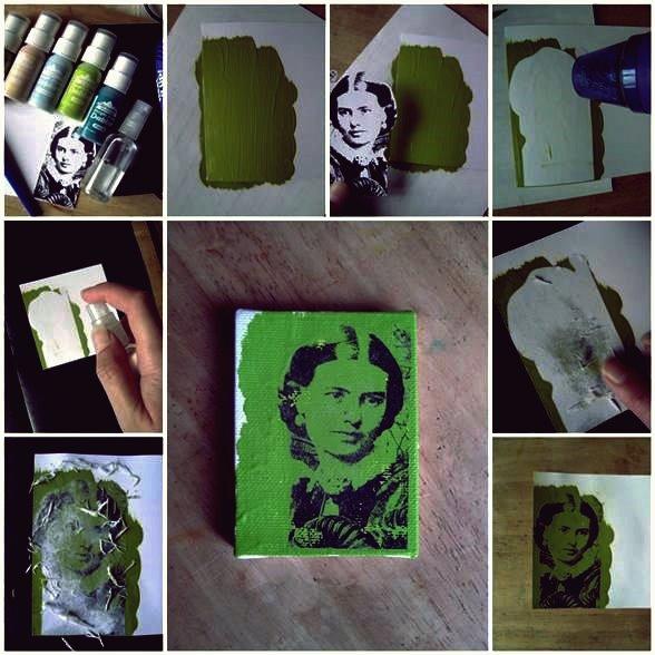 DIY Photo Transfer mit Acrylfarbe