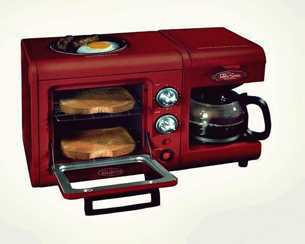 Kreative Ideen - 3-in-1-Frühstücksstation von Nostalgia Electrics