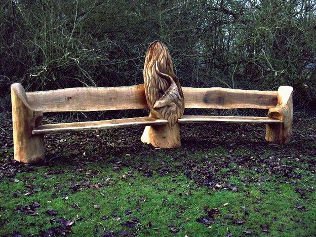 Kreative Ideen - Atemberaubende Baumstamm-Gartenmöbel
