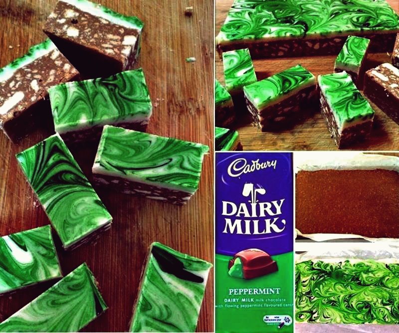 Kreative Ideen - DIY Easy Chocolate Peppermint Slice