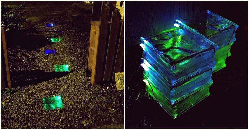 Kreative Ideen - DIY farbiger solarbetriebener Gehweg