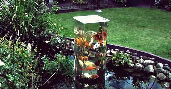 Kreative Ideen - DIY Koi Aussichtsturm im Gartenteich