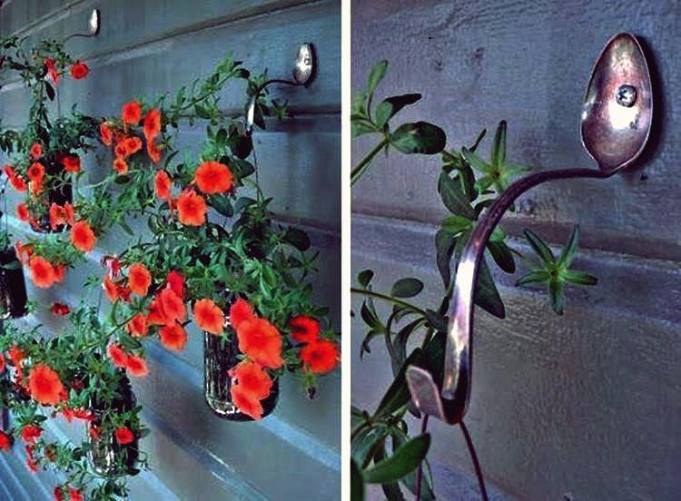 Kreative Ideen - DIY Löffel Pflanzer Haken