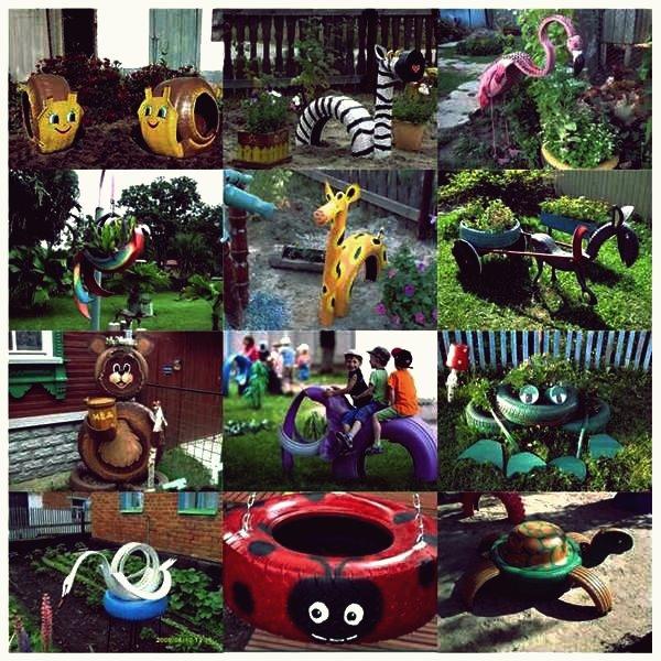 Kreative Ideen - DIY Lovely Frog Garden Decor von Old Tyres