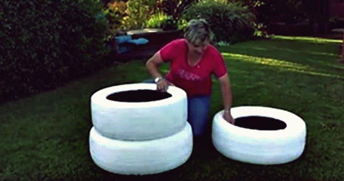 Kreative Ideen - DIY Reifen Pflanzer
