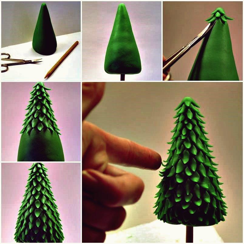 Kreative Ideen - DIY Reis Krispie Treat Weihnachtsbaum