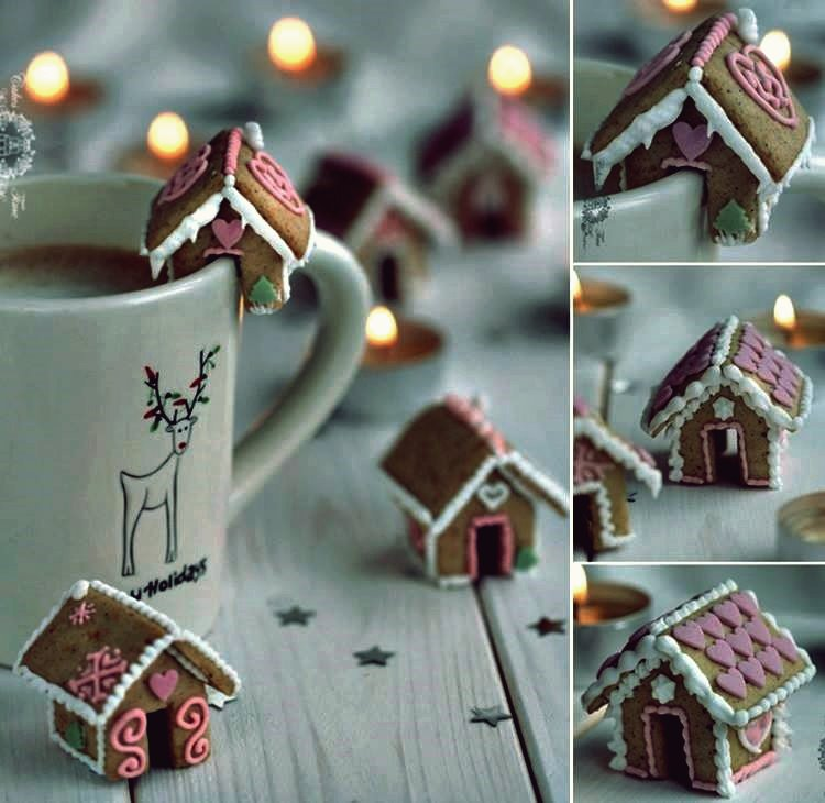 Kreative Ideen - DIY süße Mini Lebkuchenhaus Cookies