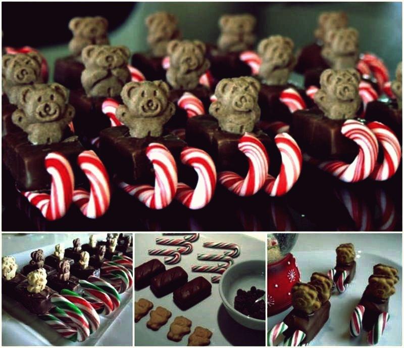 Kreative Ideen - DIY Teddy Bear Christmas Sleigh Snacks