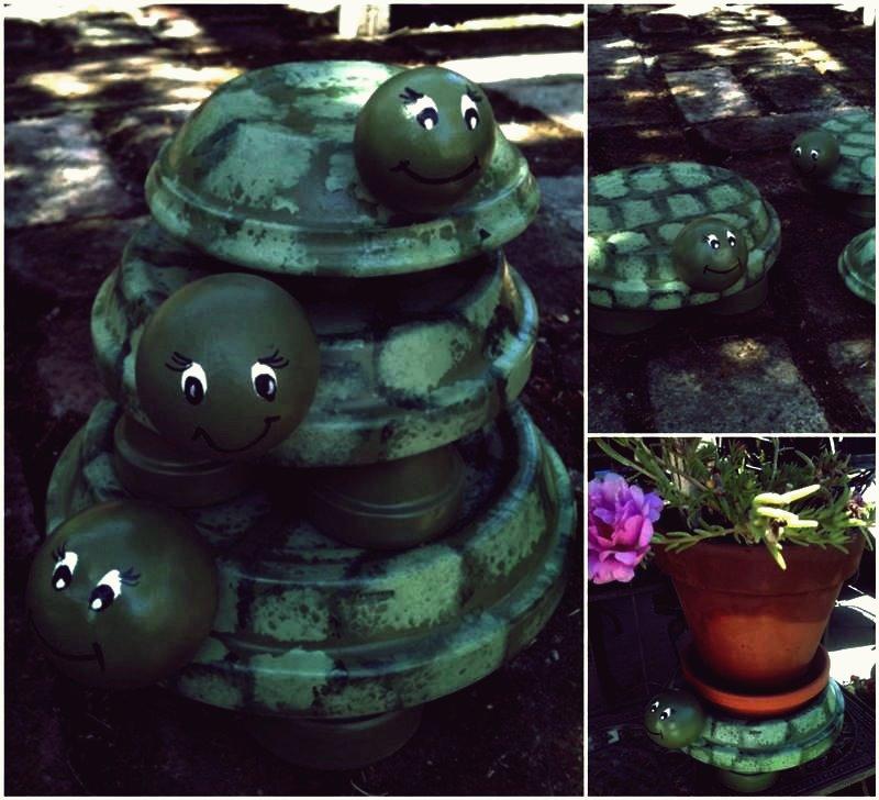 Kreative Ideen - DIY Terracotta Turtle Garden Dekore