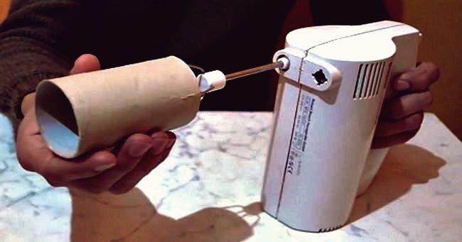 Kreative Ideen - Schnelles Aufwickeln von Garn mit dem Elektromixer