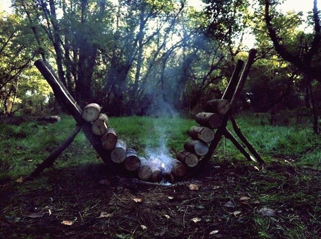 Kreative Ideen - Selbsternährendes DIY-Feuer, das über 14 Stunden brennen kann