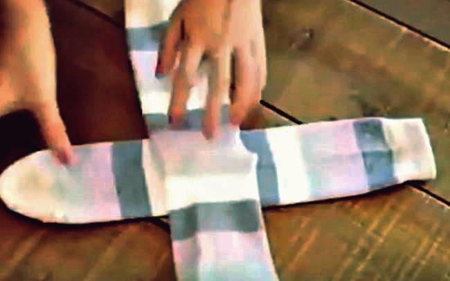 Kreative Ideen - wie man Socken richtig faltet