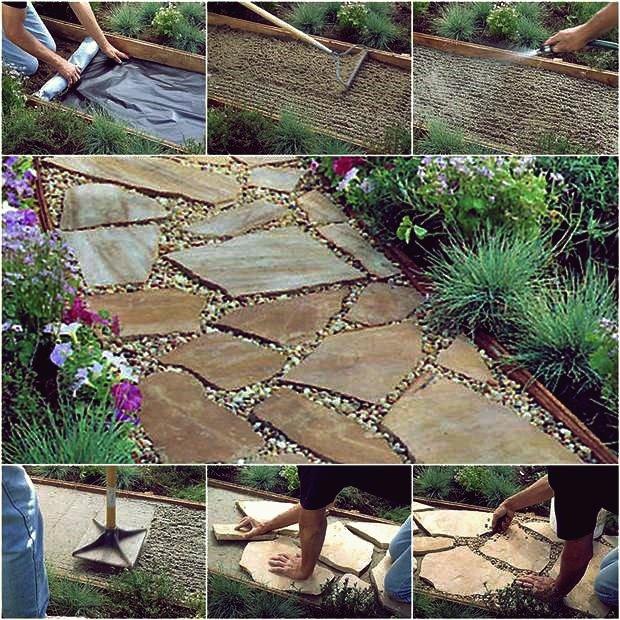 So installieren Sie DIY Flagstone Path