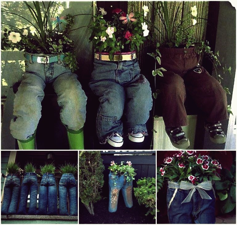 Über 40 kreative DIY-Gartenbehälter und Pflanzgefäße aus recycelten Materialien