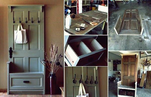 Wie DIY Entry Bench von alten Türen
