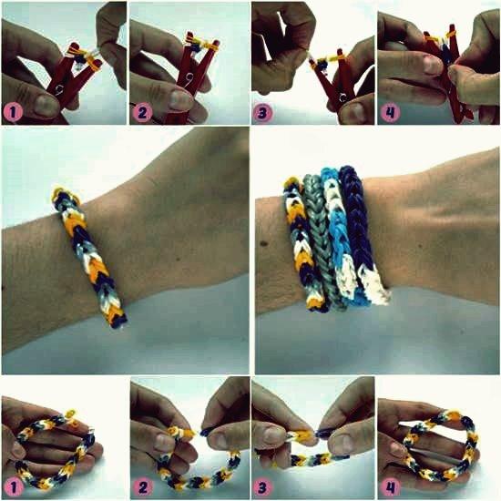 Wie DIY Gummiband Armband mit einer Wäscheklammer