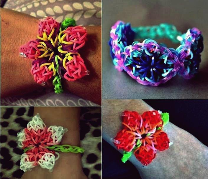 Wie DIY Hibiskus-Blumen-Regenbogen-Webstuhl-Muster-Armband