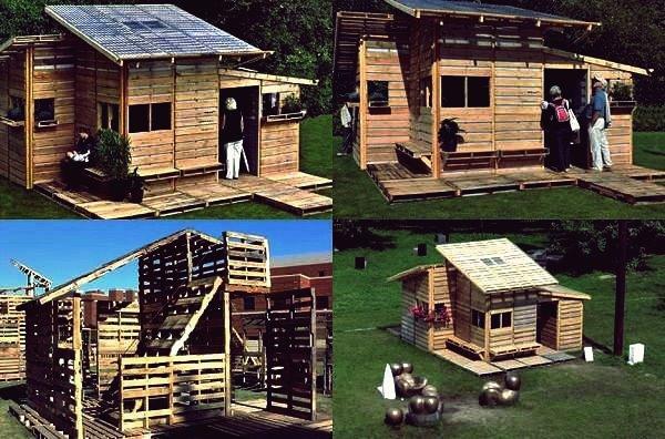 Wie DIY Holzpalettenhaus