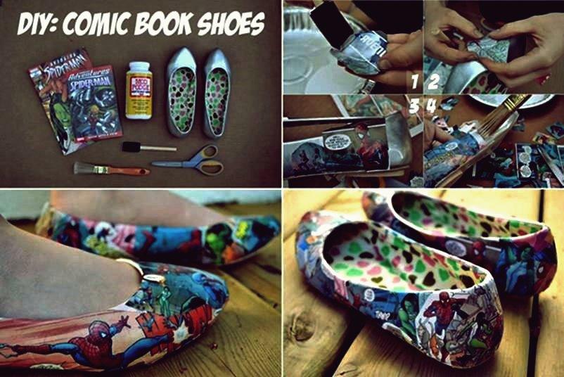 Wie DIY kreative Comic-Schuhe