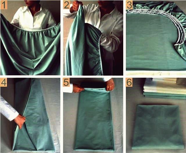 Wie DIY perfekt gefaltete Spannbetttuch