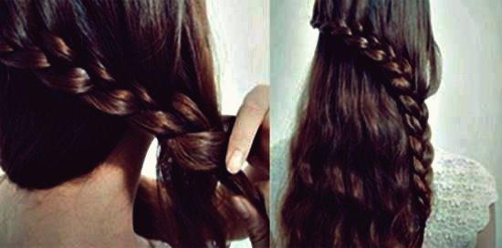 Wie DIY Wasserfall geflochtene Brötchen Frisur