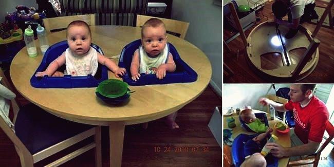 Wie DIY Zwillinge Hochstuhl Tisch