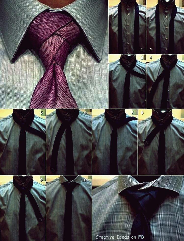 Wie man ein schönes Krawattenknoten-DIY-Tutorial bindet