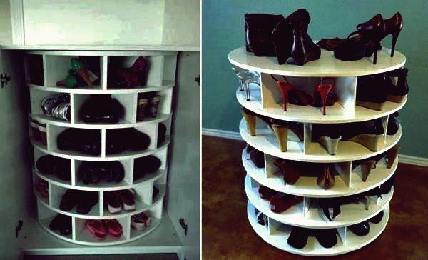 Wie man Lazy Susan Style Schuhregal DIY Tutorial macht