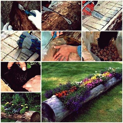Wie man schönen Klotzgarten-Pflanzer macht
